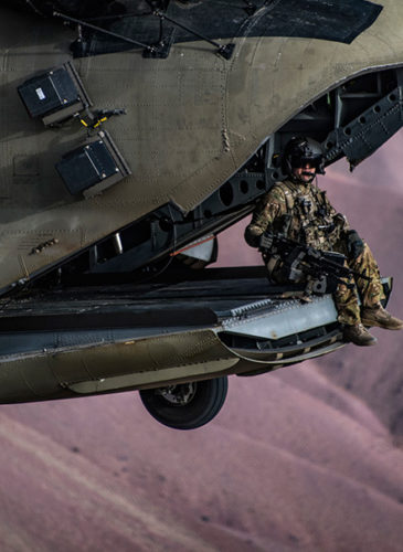 A U.S. Army Task training exercise at Bagram Airfield in Afghanistan, March 26, 2018. Photo | U.S. Air Force