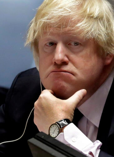 Britain's Foreign Minister Boris Johnson Africa
